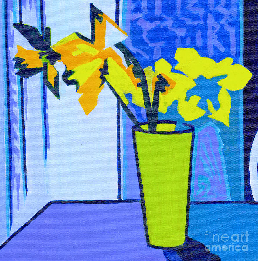 Minimalistic Daffodils by Tanya Filichkin