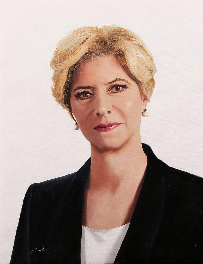ministro Roberta Pinotti Painting