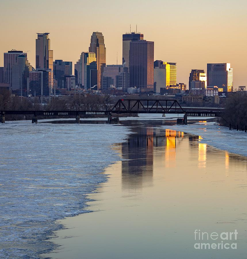 Minneapolis Skyline At Sunset 2 by Susan Rydberg