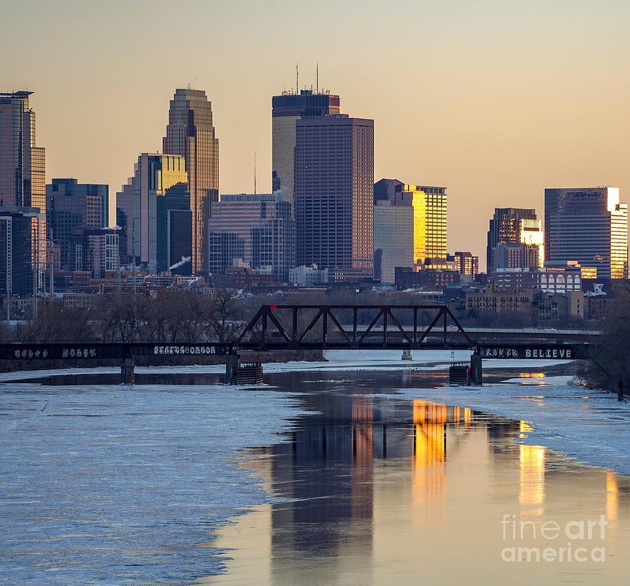 Minneapolis Skyline at Sunset by Susan Rydberg