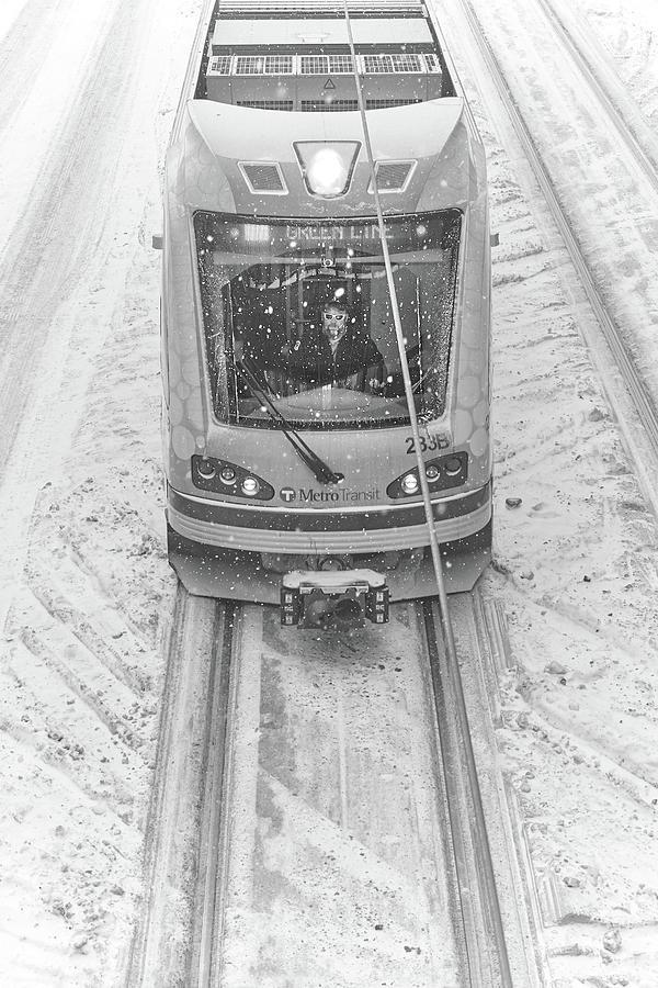 Minneapolis Snow Train by Jim Hughes