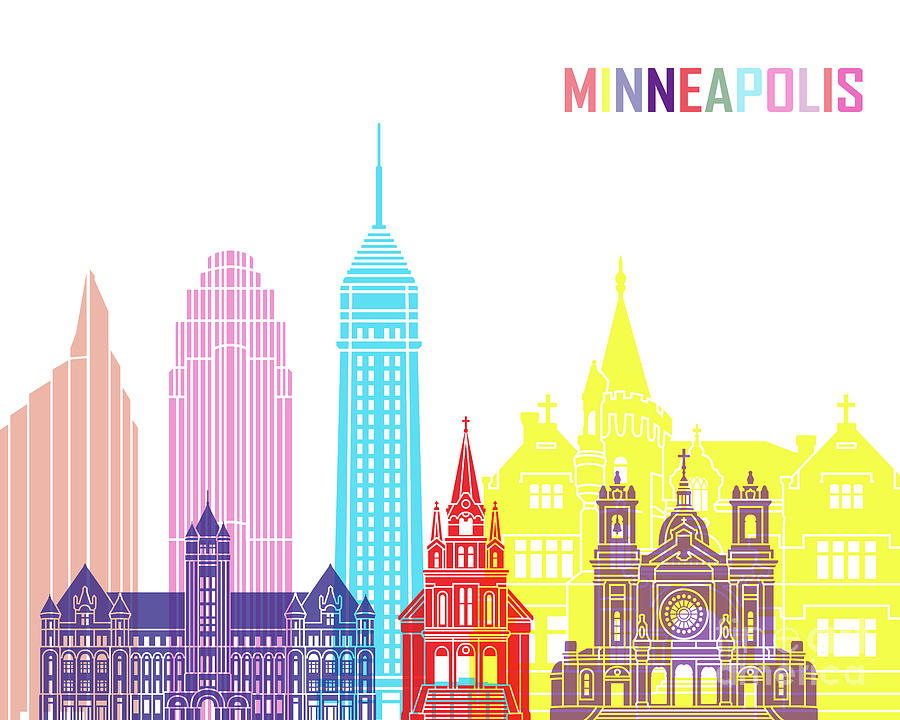 Minneapolis V2 skyline pop by Pablo Romero