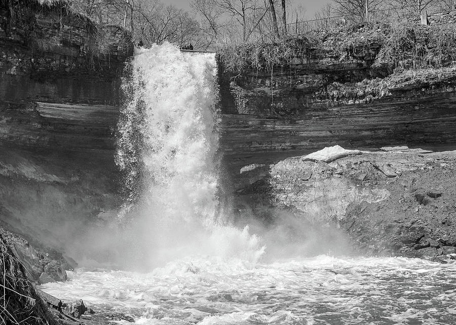 Minnehaha Falls in Minneapolis by Jim Hughes