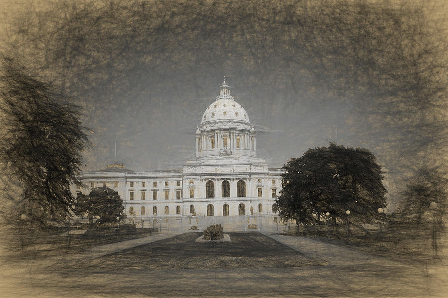 Minnesota State Capitol in Sepia by Tom Reynen