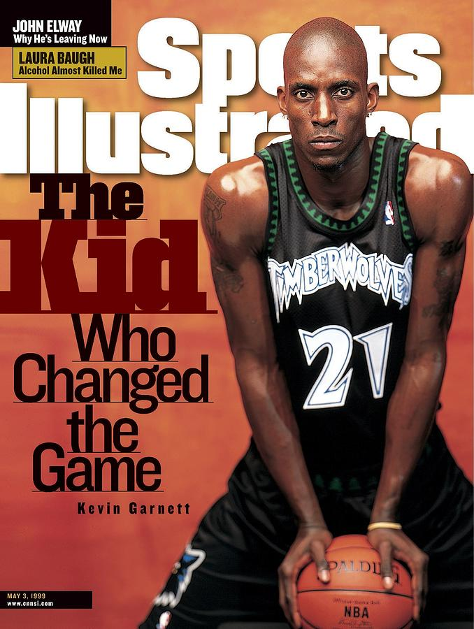 Minnesota Timberwolves Kevin Garnett Sports Illustrated Cover Photograph by Sports Illustrated