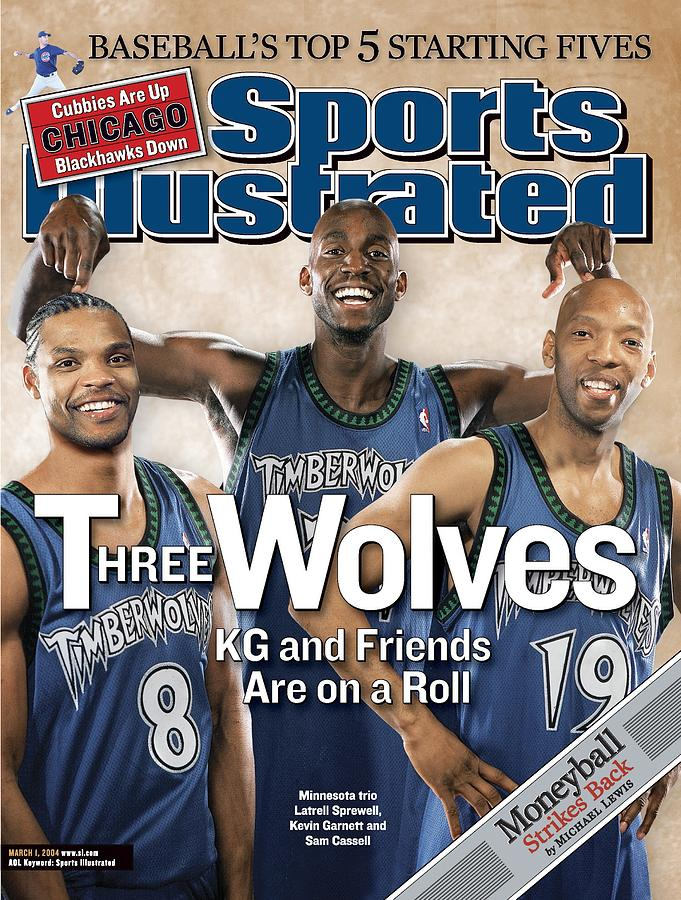 Minnesota Timberwolves Latrell Sprewell, Kevin Garnett, And Sports Illustrated Cover Photograph by Sports Illustrated