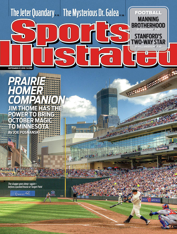 Minnesota Twins Jim Thome... Sports Illustrated Cover Photograph by Sports Illustrated