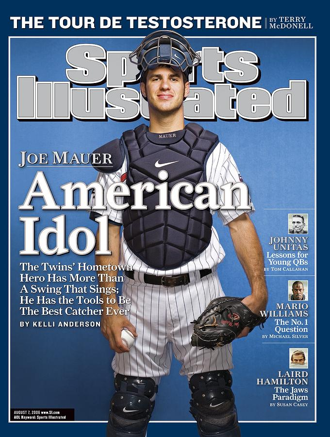 Minnesota Twins Joe Mauer Sports Illustrated Cover Photograph by Sports Illustrated