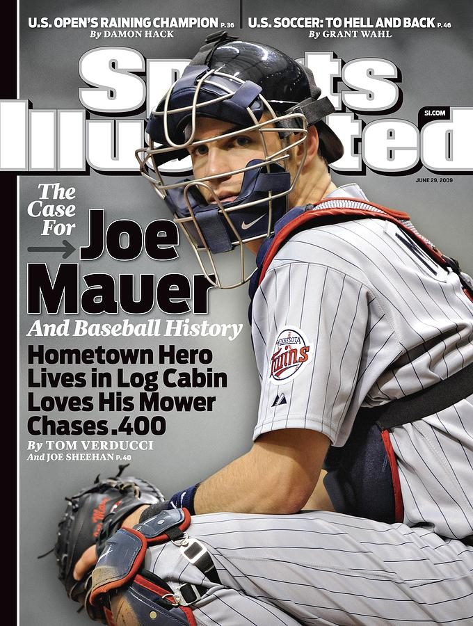 Minnesota Twins Joe Mauer... Sports Illustrated Cover Photograph by Sports Illustrated