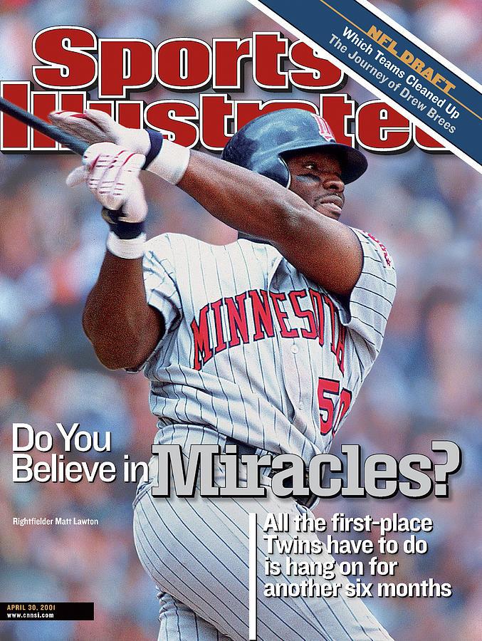 Minnesota Twins Matt Lawton... Sports Illustrated Cover Photograph by Sports Illustrated