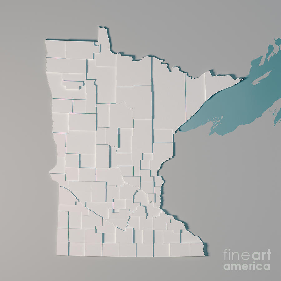 Minnesota Us State Map Administrative Divisions Counties 3d Rend on us map north dakota, us map wisconsin, atlas map of minnesota, us map michigan, state map of minnesota, us map illinois, us map south dakota, show map of minnesota,