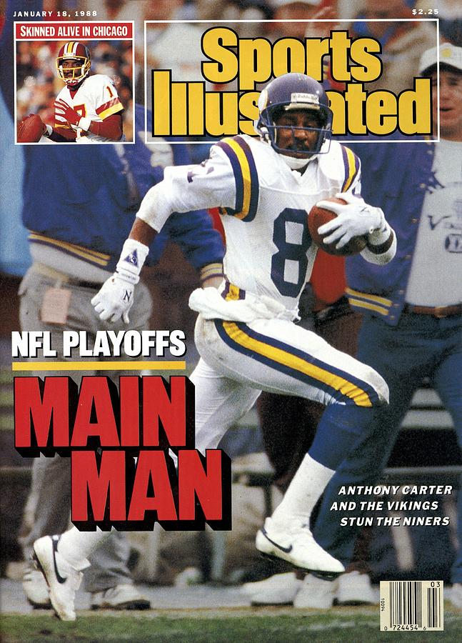 Minnesota Vikings Anthony Carter, 1988 Nfc Divisional Sports Illustrated Cover Photograph by Sports Illustrated