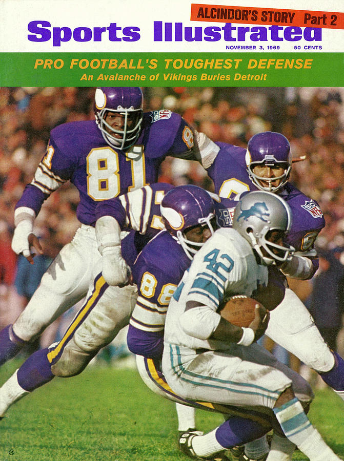 Minnesota Vikings Defense Sports Illustrated Cover Photograph by Sports Illustrated