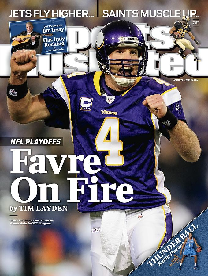 Minnesota Vikings Qb Brett Favre, 2010 Nfc Divisional Sports Illustrated Cover Photograph by Sports Illustrated