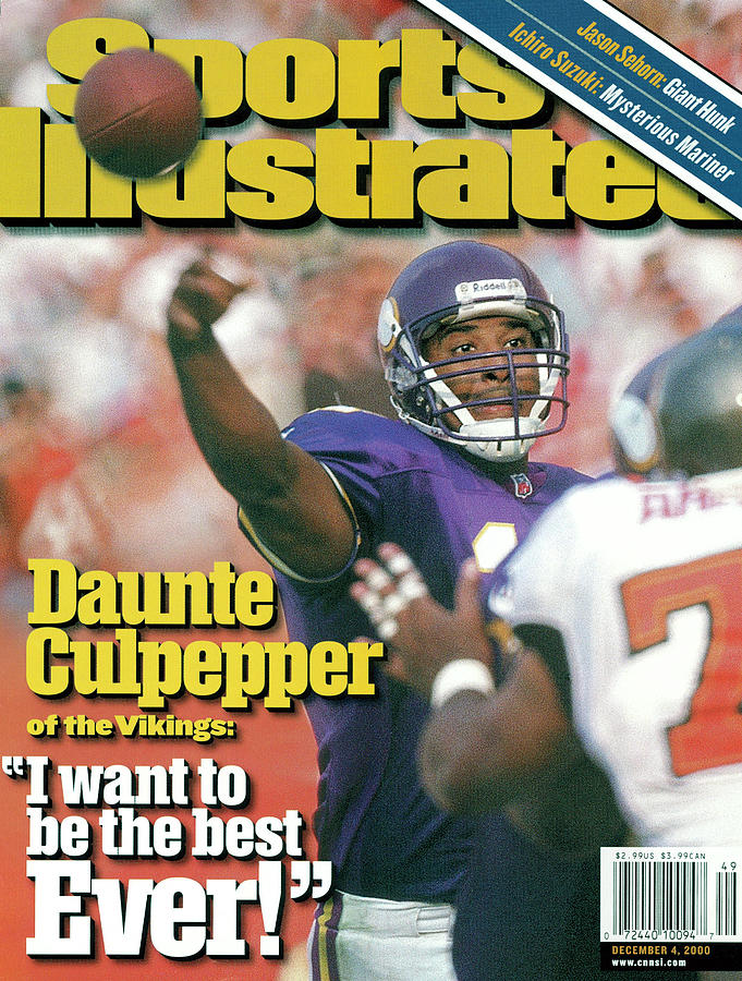 Minnesota Vikings Qb Dante Culpepper... Sports Illustrated Cover Photograph by Sports Illustrated