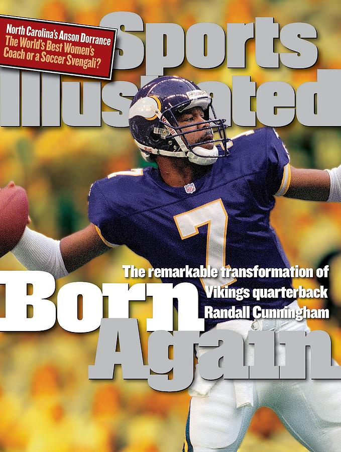 Minnesota Vikings Qb Randall Cunningham... Sports Illustrated Cover Photograph by Sports Illustrated