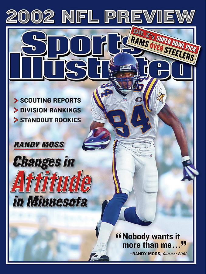 Minnesota Vikings Randy Moss, 2002 Nfl Football Preview Sports Illustrated Cover Photograph by Sports Illustrated