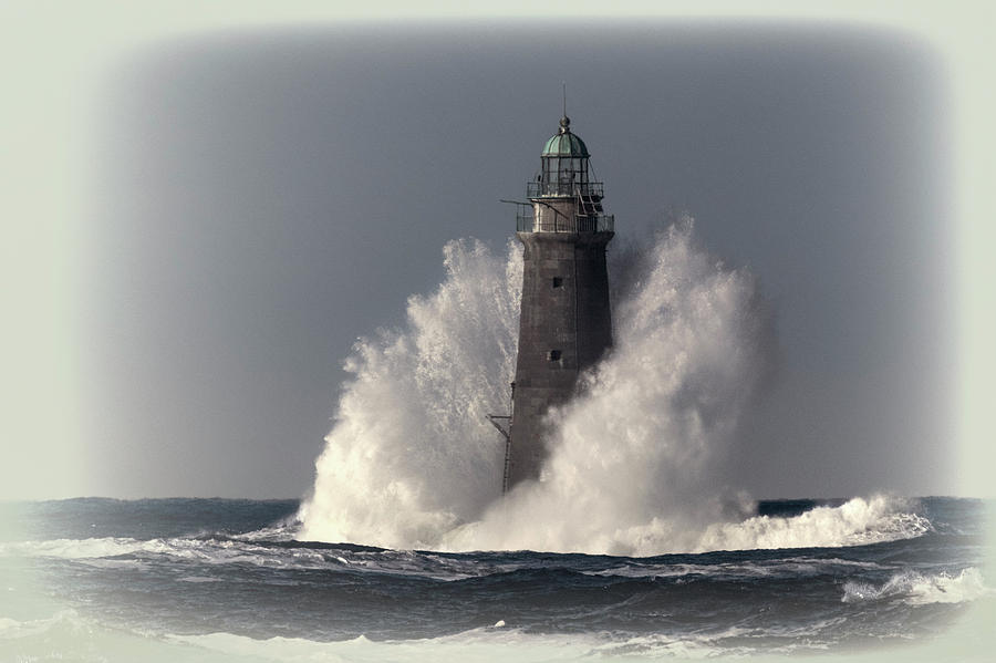 Minot Ledge Light and the Passing Wrath of Dorian by Thomas Gaitley