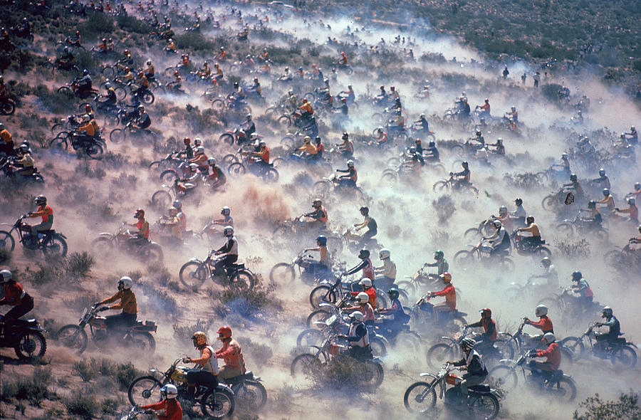 Mint 400 Motocross Race Photograph by Bill Eppridge