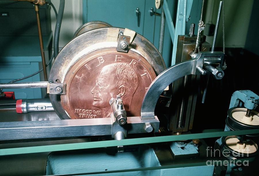 Minting Of Eisenhower Dollar Coin Photograph by Bettmann