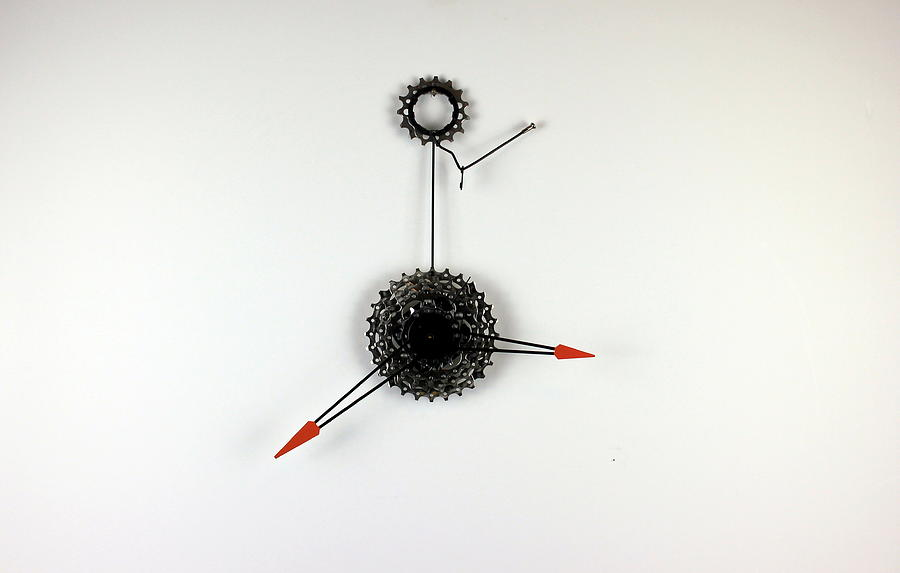 Sprocket Sculpture - Minute Man 1.4 by Michael Ediza