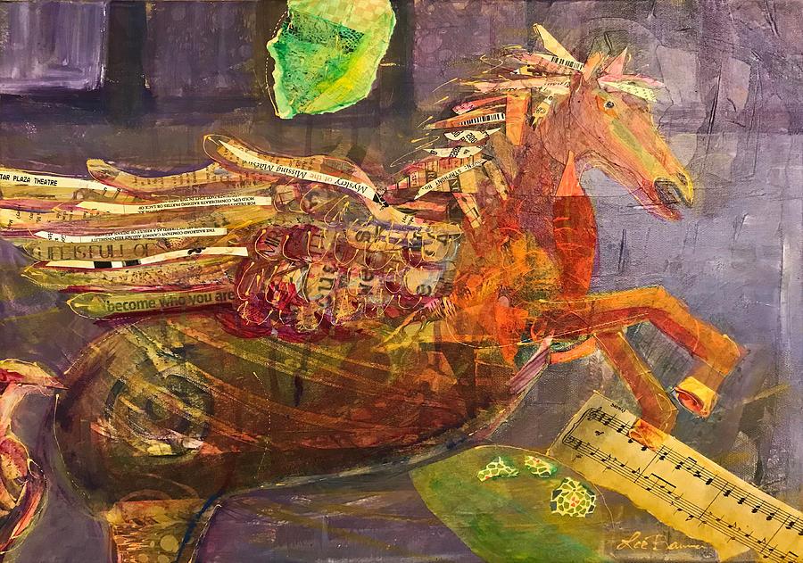 Pegasus Mixed Media - Mirabell by Lee Bauman