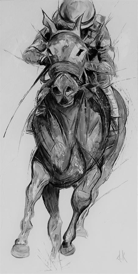Mirror horse black and white by David Keenan