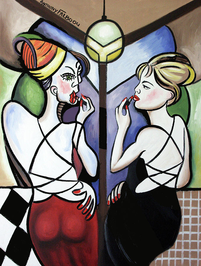 Cubism Painting - Mirror Mirror by Anthony Falbo