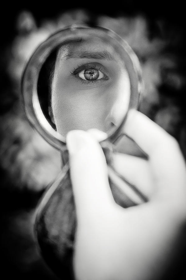 Eye Photograph - Mirror Reflection by Loriental Photography
