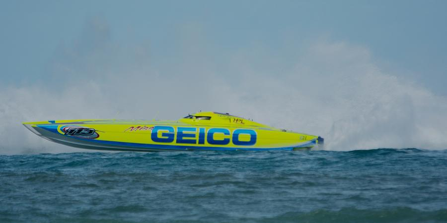 Miss Geico Racing Boat by Bradford Martin
