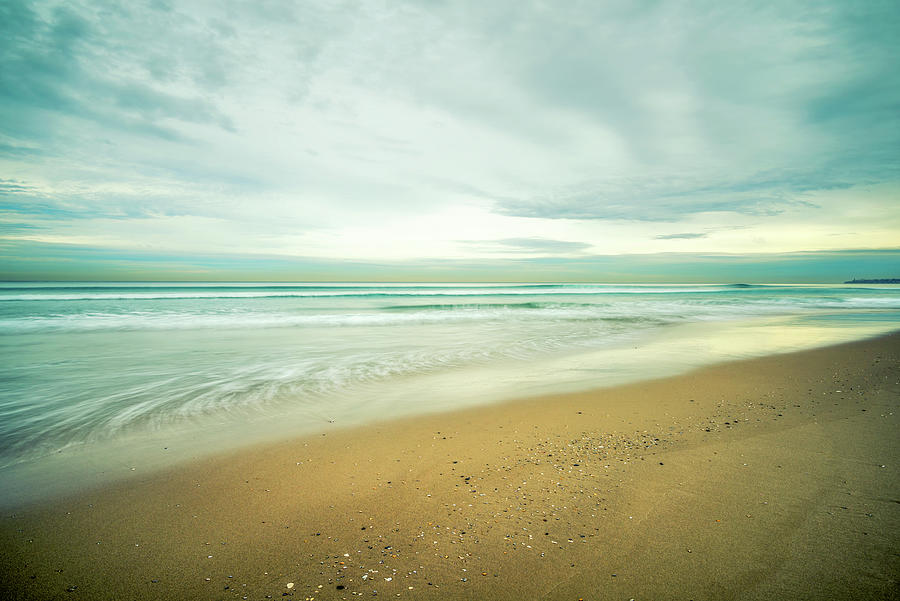 Sea Photograph - Mission Beach Gold by Joseph S Giacalone
