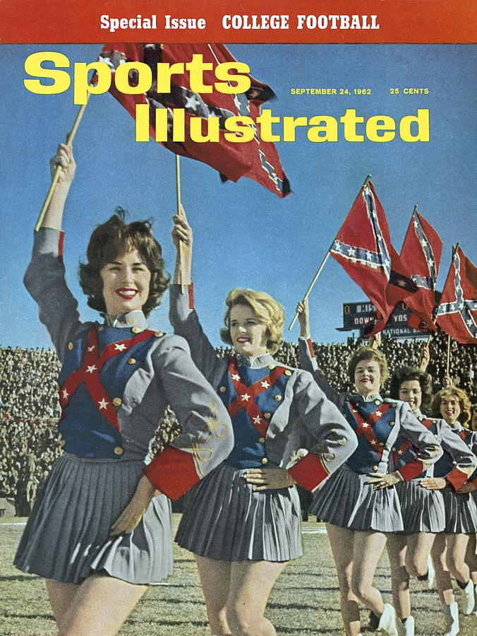 Mississippi Cheerleaders, 1962 Cotton Bowl Sports Illustrated Cover Photograph by Sports Illustrated