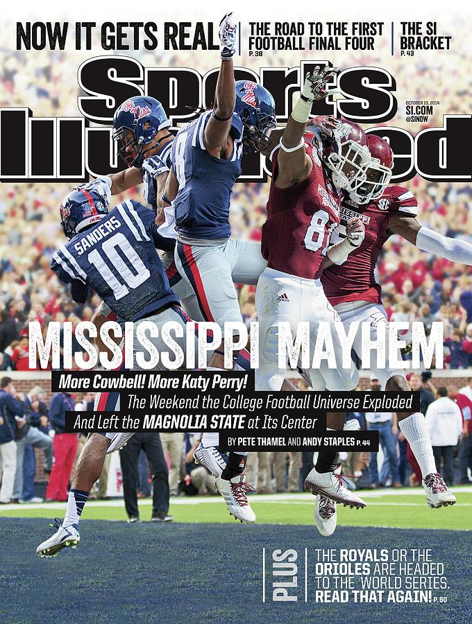Mississippi Mayhem The Weekend The College Football Sports Illustrated Cover Photograph by Sports Illustrated