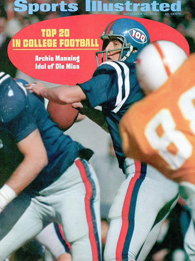 Mississippi Qb Archie Manning... Sports Illustrated Cover Photograph by Sports Illustrated