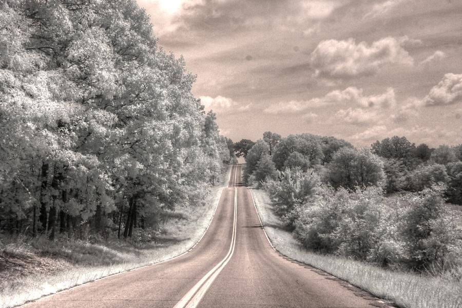 Missouri road landscape infrared by Jane Linders