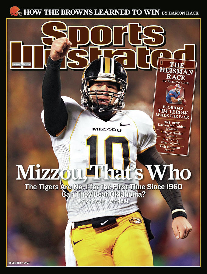 Missouri University Qb Chase Daniel Photograph by Sports Illustrated Cover
