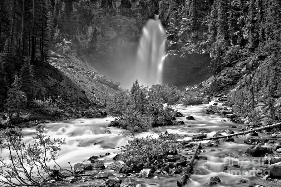 MIst Around Laughing Falls Black And White by Adam Jewell