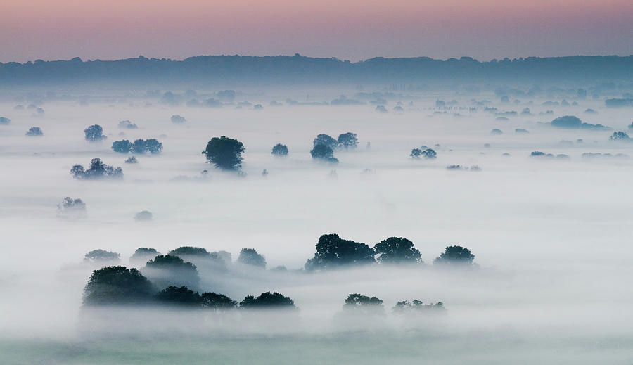 Mist On Somerset Levels Photograph by Bob Small Photography