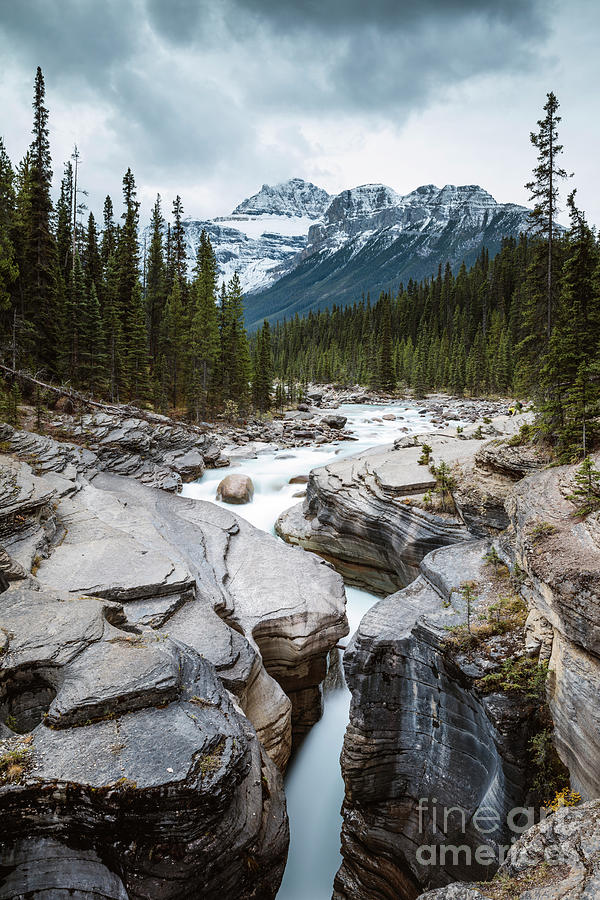 Mistaya canyon, Banff National Park, Canada by Matteo Colombo