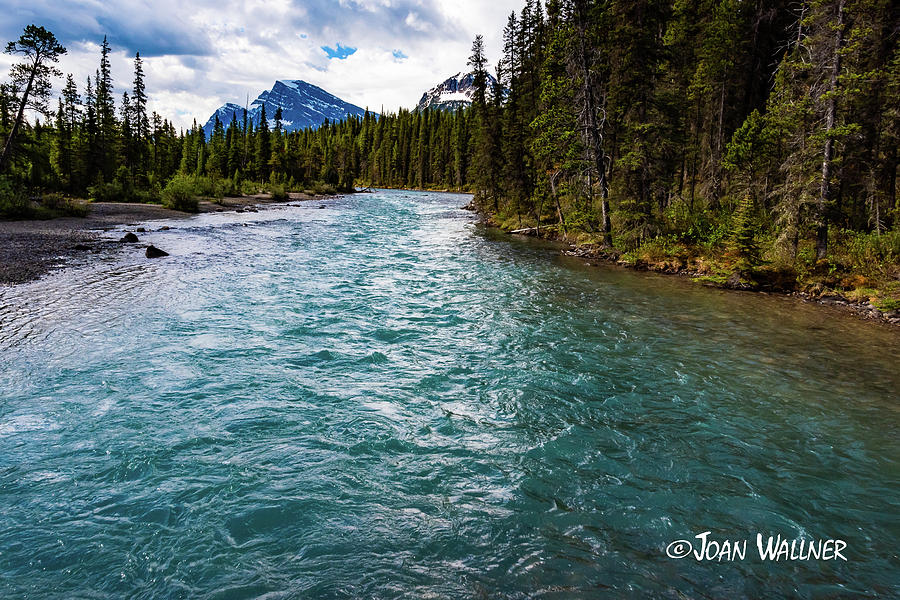 Alberta Photograph - Mistaya River Blues by Joan Wallner