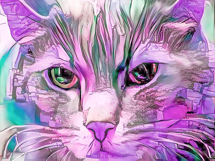 Mister Big Purple Face Kitty by Don Northup