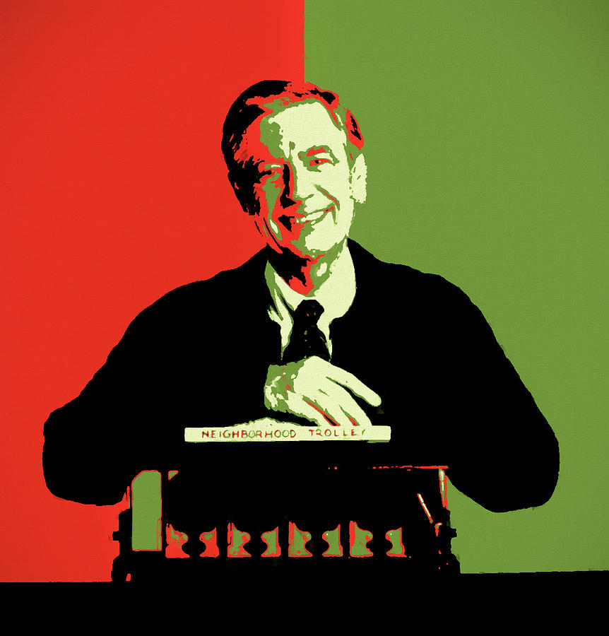 Mister Rogers Pop Art Painting By Dan Sproul