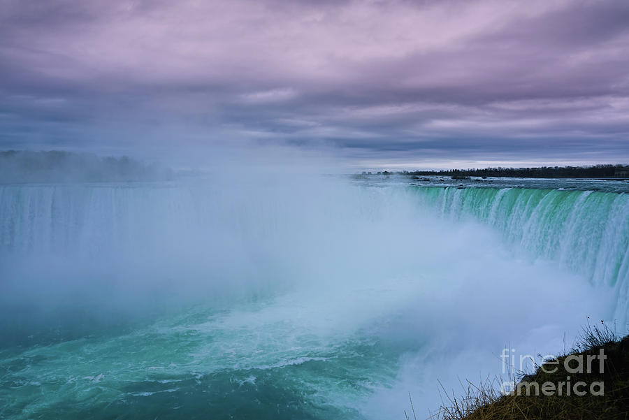 Misty Horseshoe Falls by Rachel Cohen