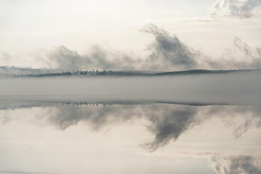 Misty lake by George Grigoriadis