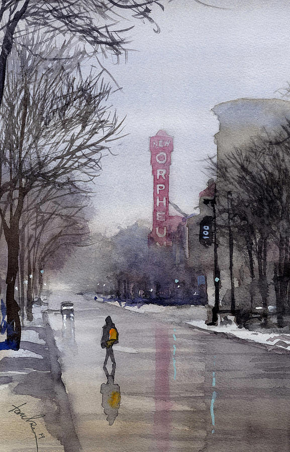 Misty Morning on Stae Street by James Faecke