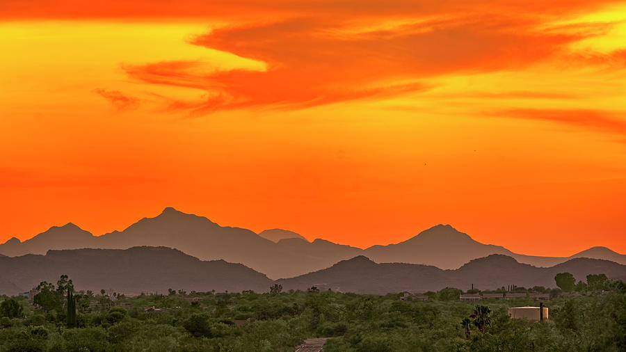 Misty Mountain Sunset h1939 by Mark Myhaver