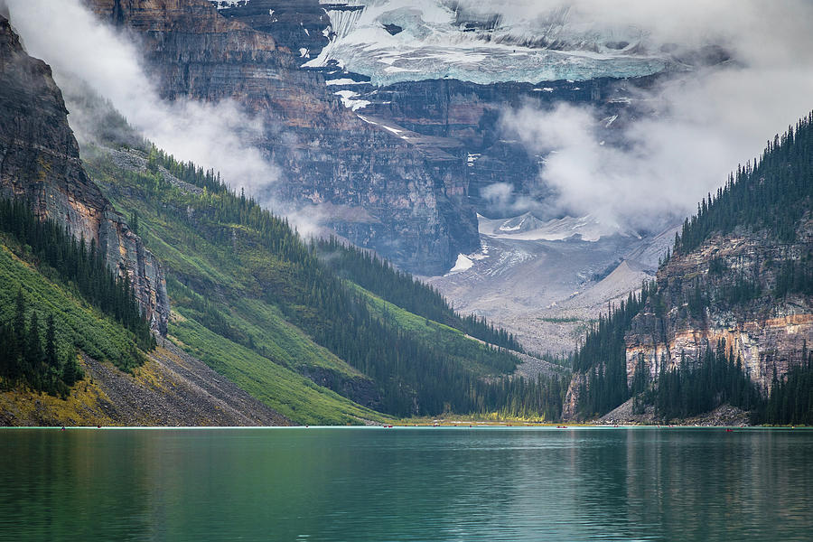 Misty Mountains of Lake Louise by Andy Konieczny