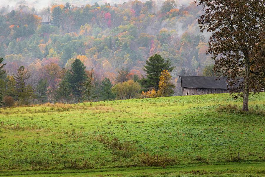 Misty New England Autumn by Bill Wakeley