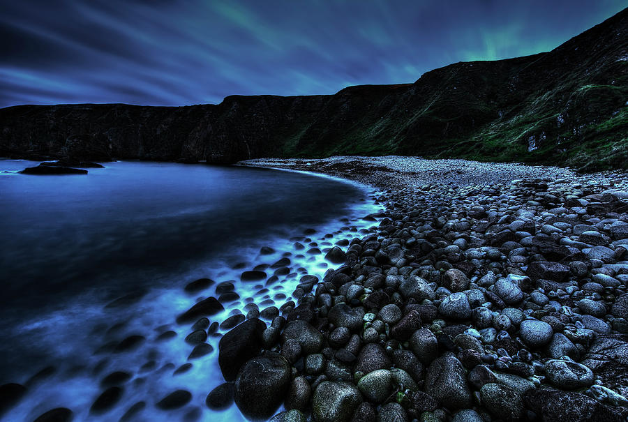 Misty Pebbles Cove Photograph by Gareth Wray