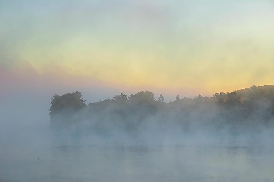 Misty Rising - Wollaston Lake - Ontario, Canada by Spencer Bush